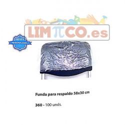 FUNDAS PARA RESPALDOS 58X30 100 UNDS