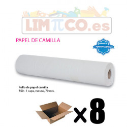 ROLLO DE PAPEL CAMILLA 1 CAPA NATURAL 1,5 KG