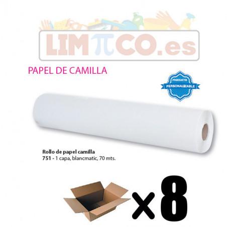 ROLLO DE PAPEL CAMILLA 1 CAPA BLANCMATIC 1,5 KG