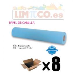 ROLLO DE PAPEL CAMILLA 1 CAPA AZUL 1,5 KG