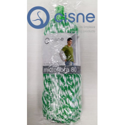 Fregona Hilo Microfibra Verde-Blanco N60