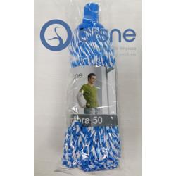 Fregona Hilo Microfibra Azul-Blanco N50