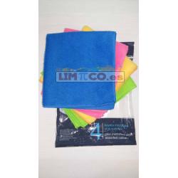 Bayeta Microfibra Plus Pack 4U Colores Cisne