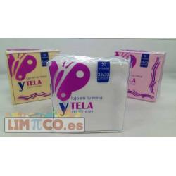 SERVILLETA BLANCA 33X33 YTELA DEC. FLORES