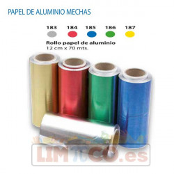 Rollo papel Aluminio Color 12 CM x 70 MTR