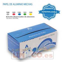 Estuche Rollo papel Aluminio Color 12 CM x 70 MTR