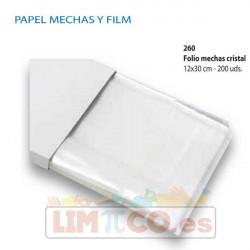 Papel Folio-mechas-cristal-12X30cm, 200 uds