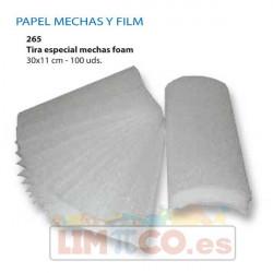 Tiras especial mechas Foam 30x11cm, 100 uds