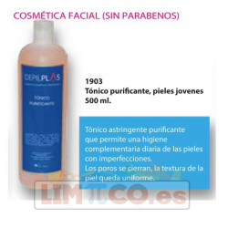 Tónico purificante, pieles jóvenes 500 ml.