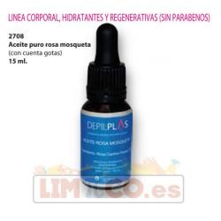Aceite Puro de Rosa Mosqueta 15 ml. - (Con cuenta gotas)