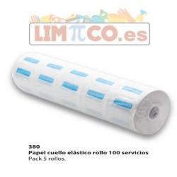 Papel cuello elástico rollo 100 servicios - Pack 5 rollos