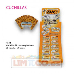 Cuchillas Bic chrome platinum