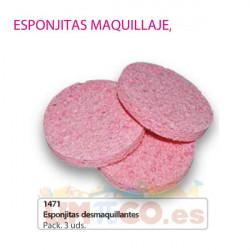 Esponjitas desmaquillantes Pack 3 uds
