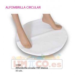 Alfombrilla circular TNT blanca - 50 Uds