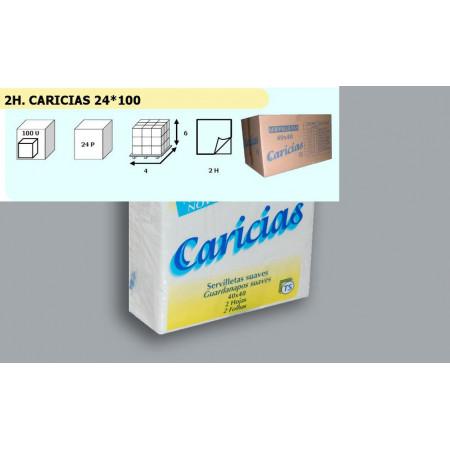 SERVILLETA CARICIAS 40*40 2H. - 100 UDSx24P