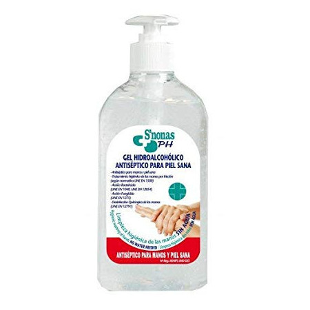 GEL HIDROALCOHOLICO ANTISEPTICO S'NONAS 500ML
