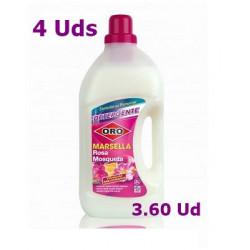 Detergente Oro Marsella de 3 Litros 4 Uds