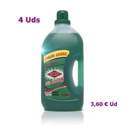 Detergente Oro ropa de color 3 litros. Mano o máquina 4 Uds