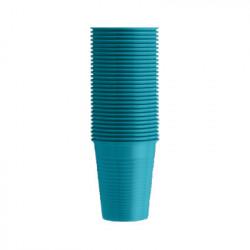 Vasos de plástico en color AZUL CELESTE