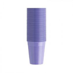 Vasos de plástico en color LILA MONOART
